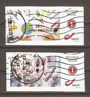Belgique - Lutte Contre La COVID-19 - Petit Lot De 2 Duostamps° Sur Fragment - Private Stamps