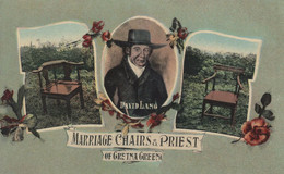 Marriage Chairs David Lang Priest Gretna Green Rare Postcard - Ohne Zuordnung