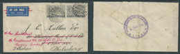 Nyasaland, GVR, 4d Cover, Airmail, LIMBE 6NOV 34 > S.Rhodesia, Redirected, Standard Bank Of S.Africa Envelope & H/s - Nyassaland (1907-1953)