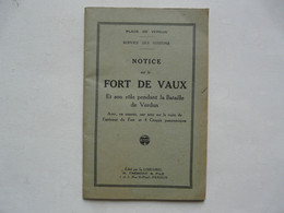 NOTICE SUR LE FORT DE VAUX - 4 Croquis Panoramiques - Geschiedenis