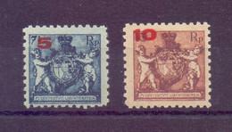 Liechtenstein Aufdruck 1921 - MiNr. 61/62 A Postfrisch - Michel 55,00 € (108) - Unused Stamps