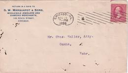 USA  1898 LETTRE DE CHICAGO - Covers & Documents