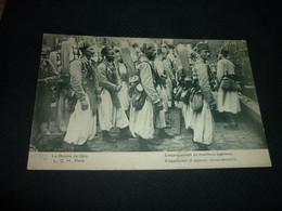 Carte Postale Militaire Guerre De 1914 Embarquement Des Tirailleurs Algeriens Algerie Animée - Guerra 1914-18