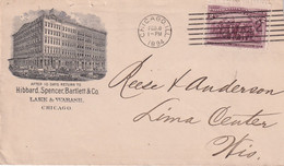 USA   1894 LETTRE ILLUSTREE DE CHICAGO - Covers & Documents