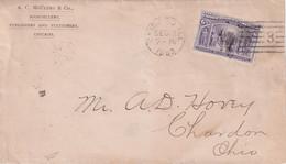 USA   1893 LETTRE DE CHICAGO - Covers & Documents