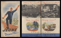 Jeune Veux-tu... Dépliant Régime De Vichy Laval 1942 Travail En Allemagne  Port > Fr 1,06€ - Historical Documents