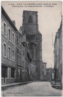 43 - LA CHAISE-DIEU - 2 CPA - La Rue St Martin - Eglise Abbatiale, Façade - La Chaise Dieu