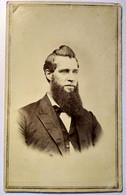 Photographie CDV USA - Portrait Homme Longue Barbe - Circa 1865 - Mendota, Illinois BE - Alte (vor 1900)
