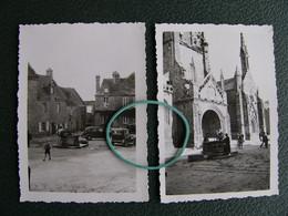 Lot 2 Photos LOCRONAN Finistère 29 L'église Le Puits Automobiles 1934 - Lieux
