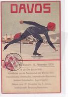 Davos - Eröffnung Der Eisbahn - Stempel Im Datum - Signierte Künstlerkarte - 29.11.1909      (P-337-10212) - GR Grisons