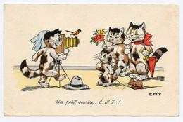 """Illustrateur.Emy """" Chats. Cats.photographe. Un Petit Sourire. S.V.P. ! .. Le Petit Oiseau Va Sortir  """" Appareil De Photo - Gatos"""