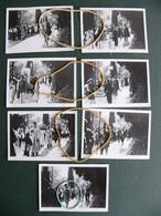 Lot 7 Photos Originales  Procession De La Passion à Roquebrune Cap Martin Alpes Maritimes 5 Août 1938 - Lieux