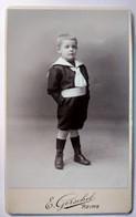 Photographie CDV Enfant - Beau Garçonnet Debout Main Dans Les Poches - 1897 - Photo Gerschel à REIMS -  - TBE - Old (before 1900)