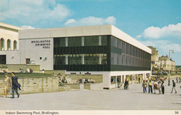Bridlington Swimming Pool Blowy Summers Day Floral Postmark 1970s Postcard - Non Classificati