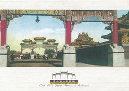 Coal Hill Street Memorial Archways Peking Chinese Postcard - Cina
