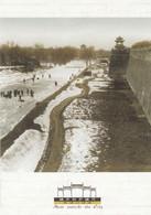 City Moat Ice Frozen Metal China Peking Chinese Postcard - Cina