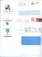 Lettre  Flamme Chiffrée Affranchi Go Machine Entete Mairie - Mechanical Postmarks (Advertisement)