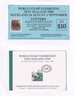 New Zealand Auckland 1990 Stamp Exhibition Orchid Lottery 3x Ephemera - New Zealand