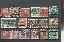 39919) Collection US Precancel Perfin Postmark Cancel - Precancels