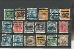 39924) Collection US Precancel Perfin Postmark Cancel - Precancels