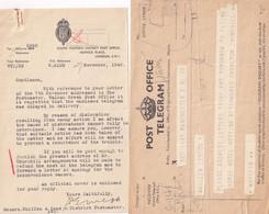 New Zealand WW2 Enemy Action On Letter Military 2x War Telegram S - Nuova Zelanda