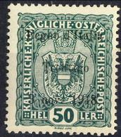 Trentino 1918 Sas. N. 11 H 50 Verde **MNH Cat. € 180 - Trentino