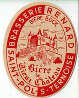 Ancienne étiquette Brasserie Renard à St Pol Sur Ternoise 62 - Bière