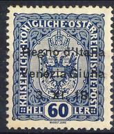 Venezia Giulia 1918 Sas. N. 12 H60 Cobalto Scuro **MNH Cat. € 100 - Trentino