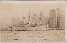 UNITED STATES - USS GEORGE WASHINGTON - 1949 Sclessin Postmark - Faded RPPC To Belgium - Piroscafi