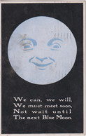 """IRELAND - """"We Can We Will, We Must Meet Soon, Not Wait Until Th Next Blue Moon""""  Eire 1927 Pm And Stamp - Humour"""