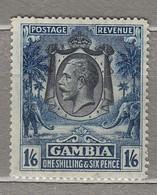 GAMBIA 1922/1927 Mint Light Hinged Mi 105 #29593 - Gambia (...-1964)