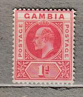 GAMBIA 1904/1909 Mint Light Hinged Mi 41 #29595 - Gambia (...-1964)