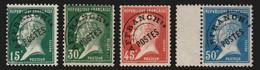 Préoblitérés N°65/68, Pasteur Série Complète, Neufs ** Sans Charnière - TB - 1893-1947