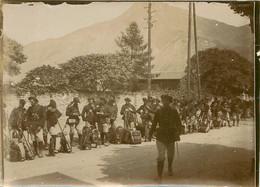 040721 PHOTO - MILITARIA GUERRE 14/18 REGIMENT DE CHASSEURS ALPIN A IDENTIFIER  PAQUETAGE - War 1914-18