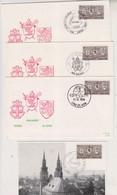 COB 1566 Cinquantenaire Du Rattachement Des Cantons De L'est Les Trois Cachets Eupen - Malmedy - St-Vith + CM - 1961-70