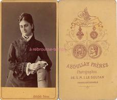 Rare Photographe- CDV Par Abdullah Frères Photographes Du Sultan à Constantinople-jeune Femme - Alte (vor 1900)