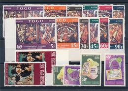 EC-448: TOGO : Lot Avec Non Dentelés** Avec PA 75/80 + PA 75/80 Dentelés + 6 Timbres - Togo (1960-...)