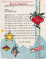 PHILIPPINES TELEGRAM Social Telegram Illustrated New Year Via RCPI Radio Communications Philippines, Inc. + Envelop 1963 - Philippines