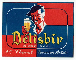 Ancienne étiquette Brasserie Entrepôt Theret à Pernes En Artois 62 - Beer