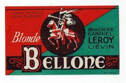 Ancienne étiquette Brasserie Leroy à Liévin 62 - Beer