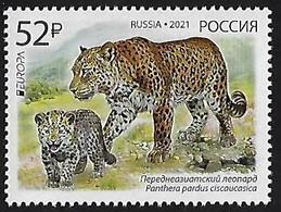 "RUSIA 2020 /RUSSLAND /RUSSIA - EUROPA 2021 -""NATIONAL ENDANGERED WILDLIFE""- LEOPARD (PANTHERA).- SERIE De 1 - N - 2020"