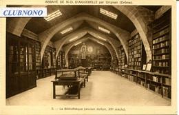 CPA - NOTRE-DAME D'AIGUEBELLE - ABBAYE -LA BIBLIOTHEQUE (IMPECCABLE) - Autres Communes