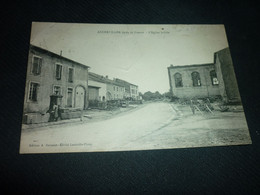 Cartes Postale  Meurthe Et Moselle Ancerviller Apres La Guerre Eglise Brulée - Altri Comuni
