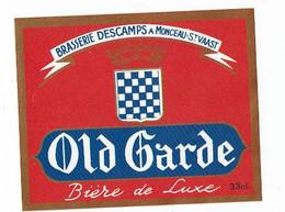 Ancienne étiquette Brasserie Descamps à Monceau-St Vaast 59 - Cerveza