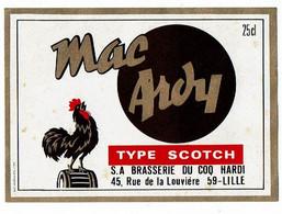 Ancienne étiquette Brasserie Du Coq Hardi à Lille 59 - Beer