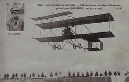 Les Pionniers De L'Air - L'Aéroplane Système Farman Piloté Par SOMMER , En Plein Vol - Sonstige Gemeinden