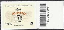 Italia / Italien 2021 Rummo Pastai / Nudelhersteller Con Codice A Barre / Mit Strichkode - Codici A Barre