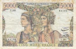 Billet 5000 F Terre Et Mer Du 2-5-1957 FAY 48.14 Alph. Y.161 - 5 000 F 1949-1957 ''Terre Et Mer''