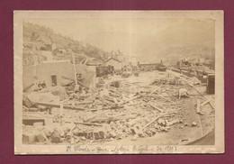 040721 - PHOTO - 39 JURA ST CLAUDE GARE APRES LE CYCLONE DE 1890 CHEMIN DE FER TRAIN CATASTROPHE - Saint Claude