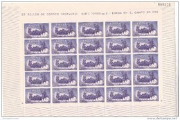 España Nº 1255 En Pliego De 25 Sellos - 1951-60 Unused Stamps